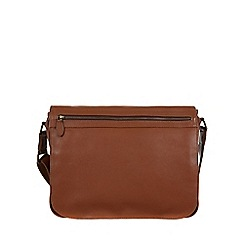 Pure Luxuries London - Chestnut 'Lawrence' natural leather messenger bag