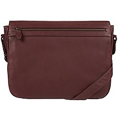 Pure Luxuries London - Oxblood 'Lawrence' natural leather despatch bag