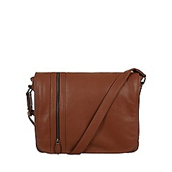 Pure Luxuries London - Chestnut 'Byron' natural leather messenger bag