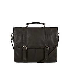 Pure Luxuries London - Brown 'Caxton' natural leather briefcase