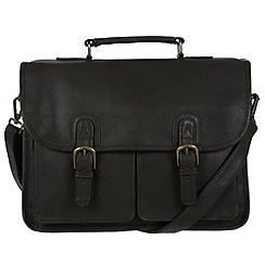 Pure Luxuries London - Brown 'Scott' natural leather briefcase