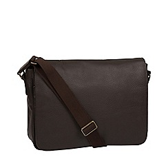 Pure Luxuries London - Brown 'Keats' leather messenger bag