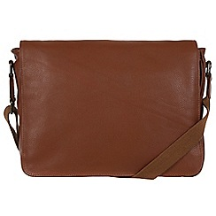 Pure Luxuries London - Chestnut 'Keats' natural leather messenger bag