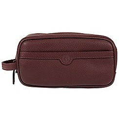 Pure Luxuries London - Oxblood 'Moore' natural leather washbag