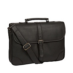 Pure Luxuries London - Black 'Wallace' leather briefcase