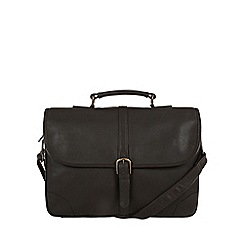 Pure Luxuries London - Brown 'Wallace' natural leather briefcase