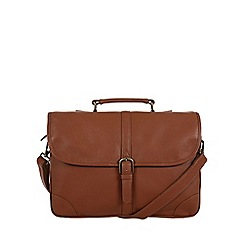 Pure Luxuries London - Chestnut 'Wallace' natural leather briefcase