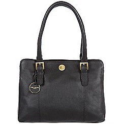 Pure Luxuries London - Black 'Hendon' fine natural leather bag
