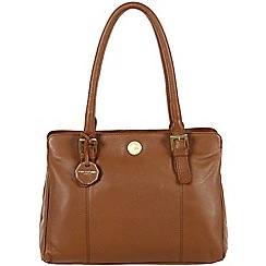 Pure Luxuries London - Chestnut 'Hendon' fine natural leather bag