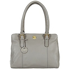 Pure Luxuries London - Grey 'Hendon' fine natural leather bag