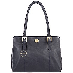 Pure Luxuries London - Navy 'Hendon' fine natural leather bag