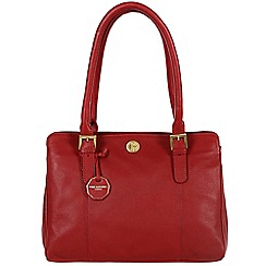 Pure Luxuries London - Red 'Hendon' fine natural leather bag