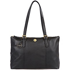 Pure Luxuries London - Black 'Amersham' fine natural leather bag