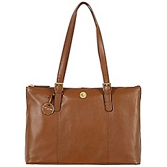 Pure Luxuries London - Chestnut 'Amersham' fine natural leather bag