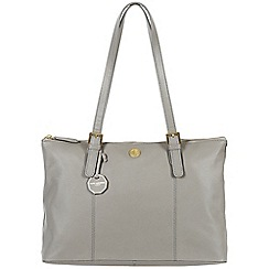 Pure Luxuries London - Grey 'Amersham' fine natural leather bag