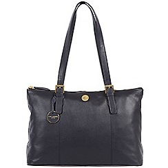 Pure Luxuries London - Navy 'Amersham' fine natural leather bag