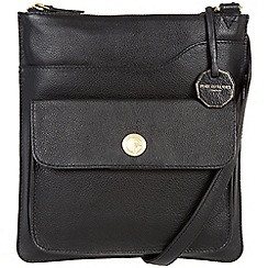 Pure Luxuries London - Black 'Winchester' fine natural leather bag