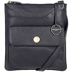 Pure Luxuries London - Navy 'Winchester' fine natural leather bag