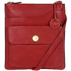 Pure Luxuries London - Red 'Winchester' fine natural leather bag