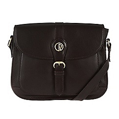 Pure Luxuries London - Brown 'Kirkham' fine leather mini bag