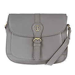 Pure Luxuries London - Grey 'Kirkham' fine leather mini bag