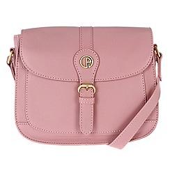 Pure Luxuries London - Pink 'Kirkham' lightweight leather mini bag
