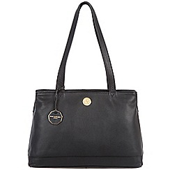 Pure Luxuries London - Black 'Silverdale' fine natural leather bag