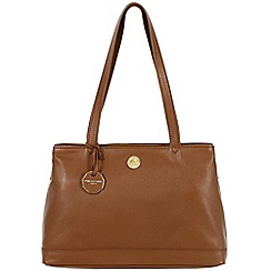 Pure Luxuries London - Chestnut 'Silverdale' fine natural leather bag