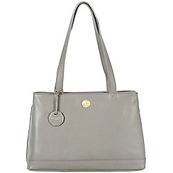 Pure Luxuries London - Grey 'Silverdale' fine natural leather bag