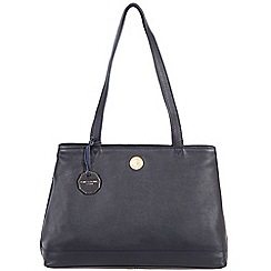 Pure Luxuries London - Navy 'Silverdale' fine natural leather bag