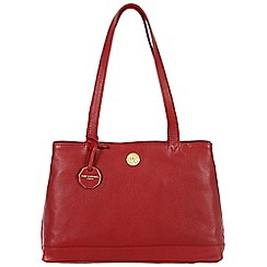 Pure Luxuries London - Red 'Silverdale' fine natural leather bag