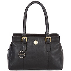 Pure Luxuries London - Black 'Polperro' fine natural leather bag