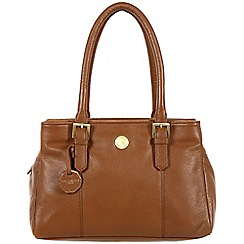 Pure Luxuries London - Chestnut 'Polperro' fine natural leather bag