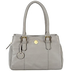 Pure Luxuries London - Grey 'Polperro' fine natural leather bag