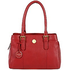 Pure Luxuries London - Red 'Polperro' fine natural leather bag