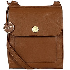 Pure Luxuries London - Chestnut 'Ludlow' fine natural leather bag