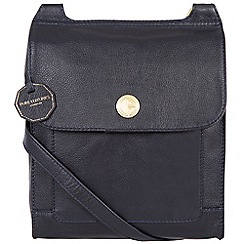 Pure Luxuries London - Navy 'Ludlow' fine natural leather bag