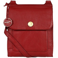 Pure Luxuries London - Red 'Ludlow' fine natural leather bag