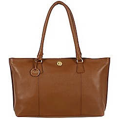 Pure Luxuries London - Chestnut 'Sherbourne' fine natural leather bag