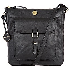 Pure Luxuries London - Black 'Aberdeen' fine natural leather bag