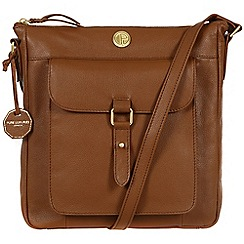 Pure Luxuries London - Chestnut 'Aberdeen' fine natural leather bag
