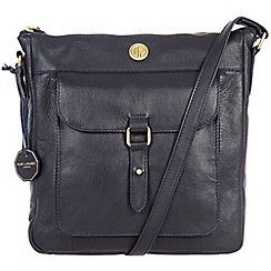 Pure Luxuries London - Navy 'Aberdeen' fine natural leather bag