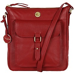 Pure Luxuries London - Red 'Aberdeen' fine natural leather bag