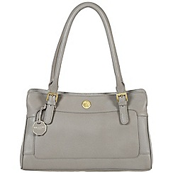 Pure Luxuries London - Grey 'Houghton' fine natural leather bag