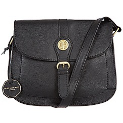 Pure Luxuries London - Black 'Burford' fine natural leather bag