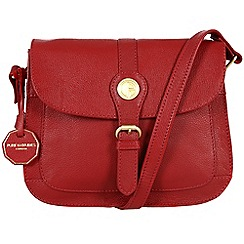 Pure Luxuries London - Red 'Burford' fine natural leather bag