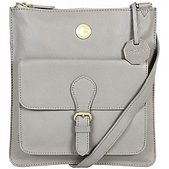 Pure Luxuries London - Grey 'Stow' fine natural leather bag