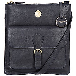 Pure Luxuries London - Navy 'Stow' fine natural leather bag