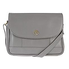 Pure Luxuries London - Grey 'Bollington' fine leather mini bag