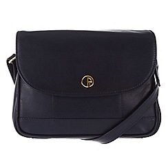 Pure Luxuries London - Navy 'Bollington' fine leather mini bag